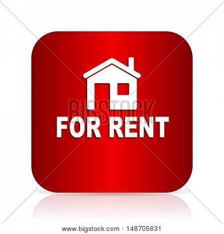for rent red square modern design icon