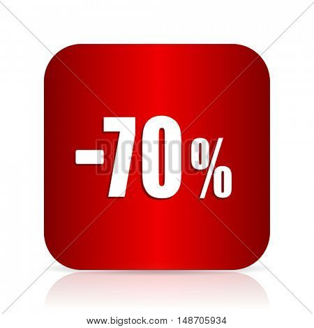 70 percent sale retail red square modern design icon