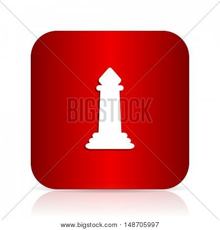 chess red square modern design icon