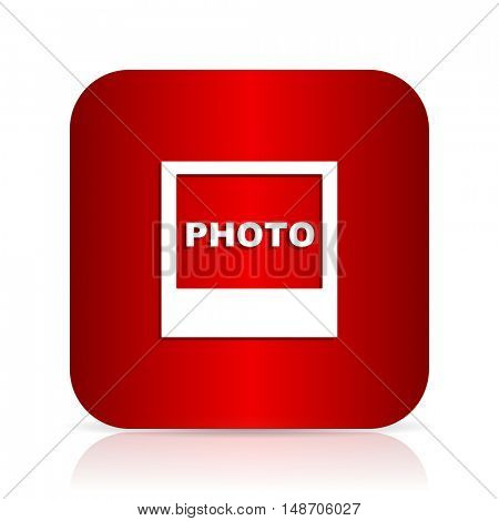photo red square modern design icon