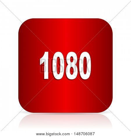 1080 red square modern design icon