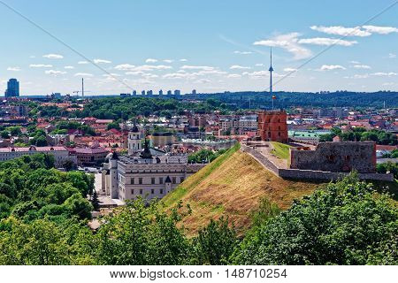 Tower And Lower Castle In Vilnius In Lithuania