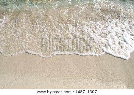el oleaje del mar desde mi toalla