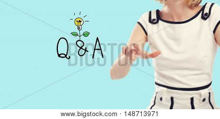 Q And A Concept With Young Woman