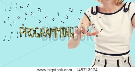 Programming Concept With Young Woman