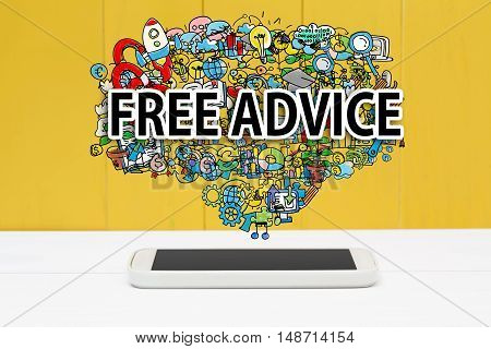 Free Advice Concept With Smartphone
