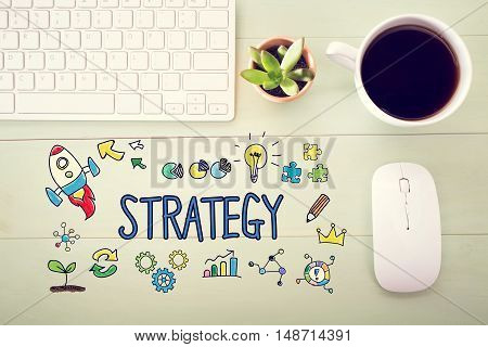Strategy Concept With Workstation