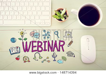 Webinar Concept With Workstation