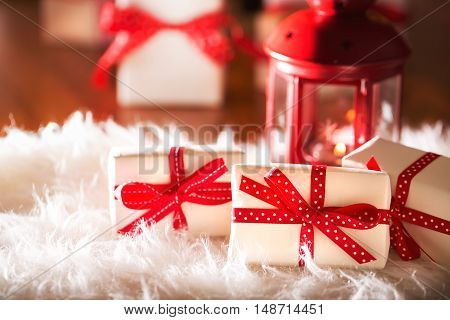 Christmas Gift Boxes At Night