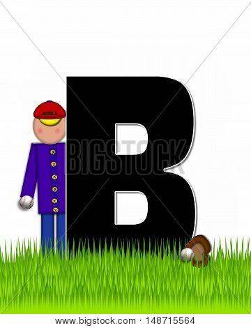Alphabet Children Baseball B