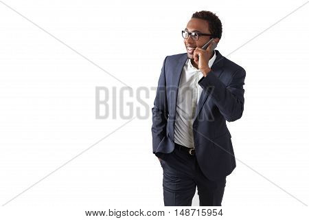 Businessman Talking To His Investor