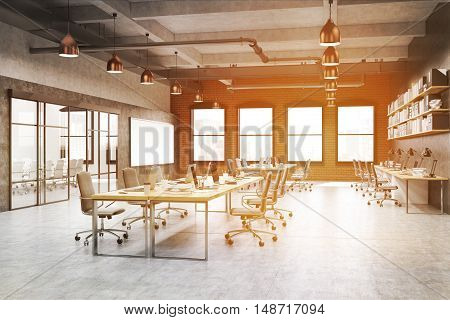 Call Center With Pipes Near Ceiling