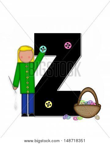 Alphabet Children Sewing Z