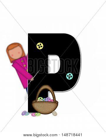 Alphabet Children Sewing P