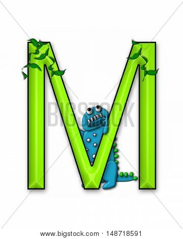 The letter M in the alphabet set