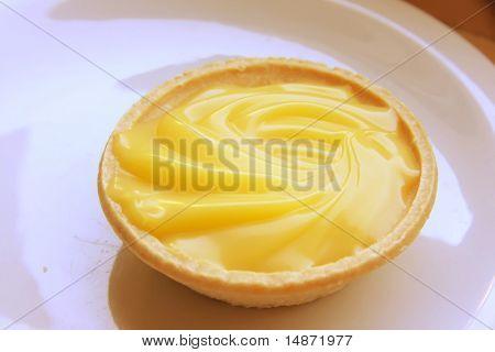 Lemon pastry tart sweet sour cream baked dessert