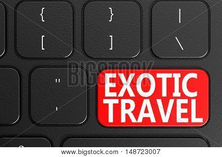 Exotic Travel On Black Keyboard