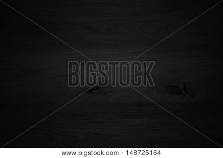 Wood Black Background Texture. Blank For Design