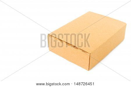 Paper box package on white background for package concept