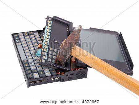 Notebook crash from hammer