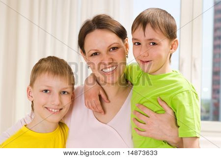 Mother With Her Two Children