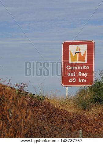 Sign For Caminito Del Rey