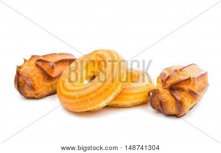 choux pastry dessert isolated on white background