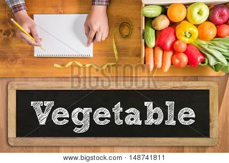 Vegetables And Fruits Concept