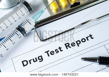 Medications Pills Drug Test Report