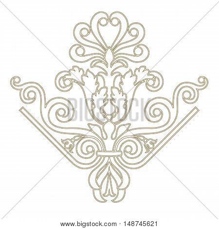 Golden pattern, vintage pattern, baroque pattern, frame pattern, scroll pattern, border pattern, floral pattern,  ornamental pattern. vector