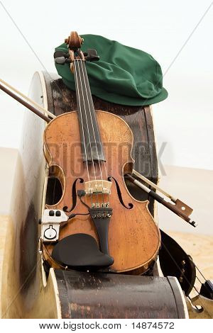 Folk band instruments.