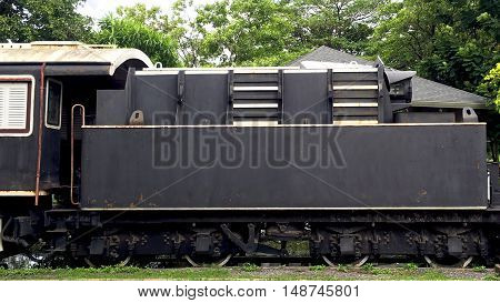 Vintage Balck Train Railway Transportation Elevation