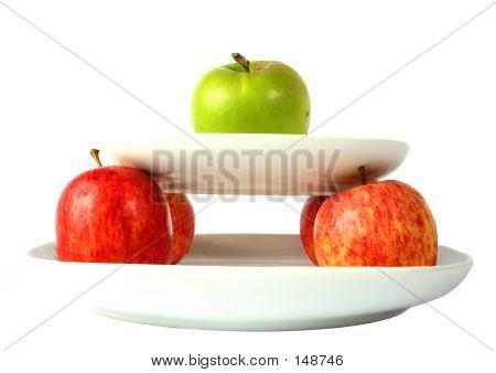 Manzanas en placas
