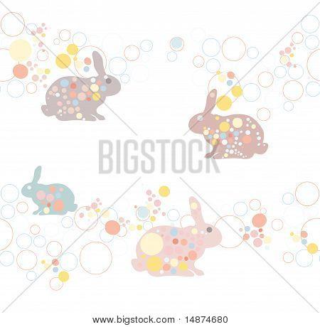cute seamless easter rabbit pattern