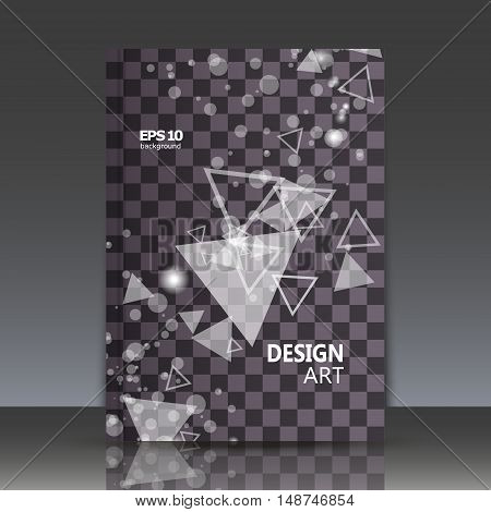 Abstract composition tessellation font flying geometric shapes backdrop figure interlacement icon logo construction screen saver mosaic surface chequered print EPS 10 vector