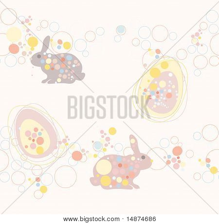 cute seamless easter rabbit and egg pattern