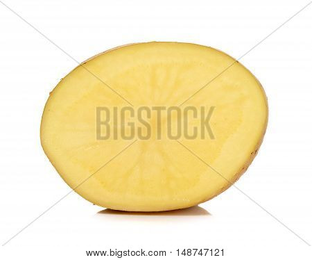 Half Of Potato Isolated On The White Background