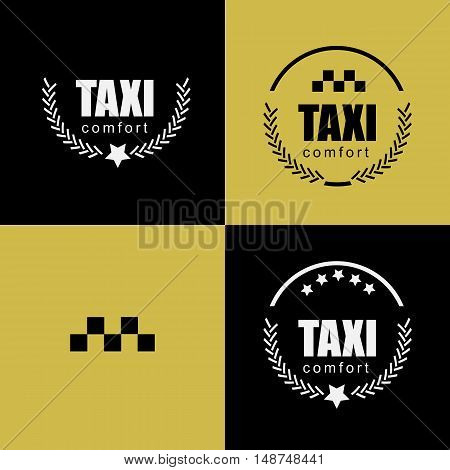 Taxi vintage labels and emblems template. vector image.