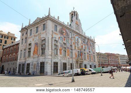 Palace Palazzo San Giorgio Near Porto Antico, Genoa, Italy