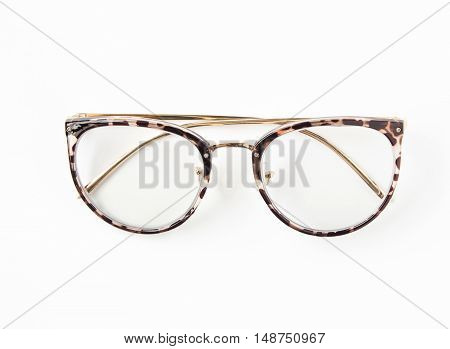 A Eyeglasses isolated on white background / eye UV