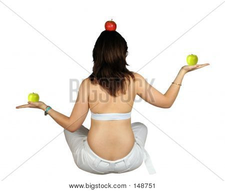 Apples On A Well Balanced Girl