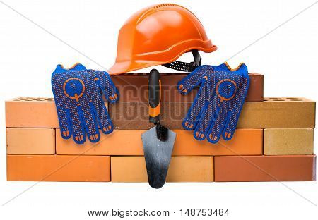 bricks Building tools on a white background