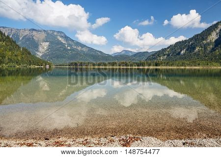 Panoramic View Of Lake Offensee In Salzkammergut