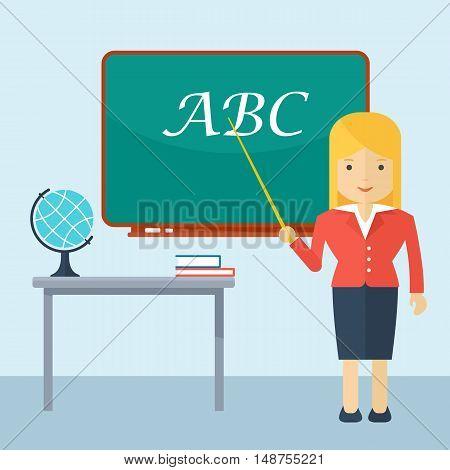 Teacher Woman In Classroom