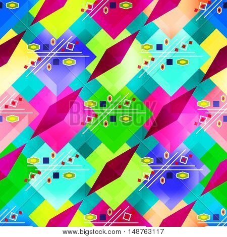 bright colorful geometric abstract pattern Graffiti vector illustration abstract high quality