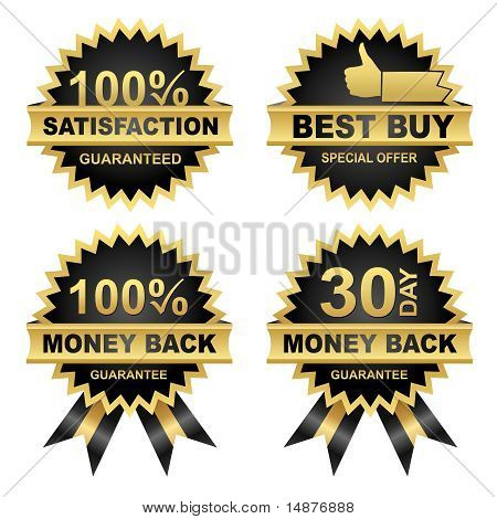 Money Back -satisfaction - Best Buy - Set Of Seals.eps