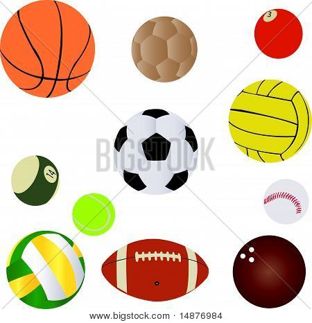 Balls collection - vector