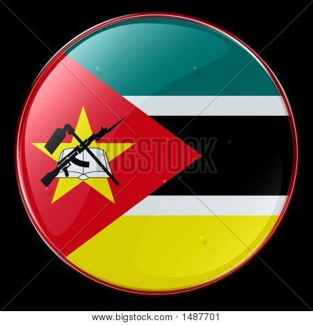 Mozambique Flag Button