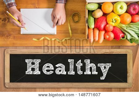 Healthy lifestyle concept Diet and fitness doctor work hard