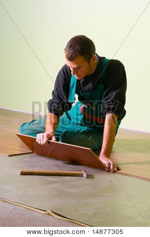 Young Worker Carpenter